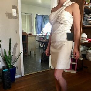 Arden b one shoulder white dress